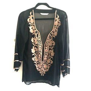 Embroidered elegant blouse